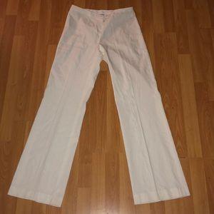 Calvin Klein White Linen Trouser